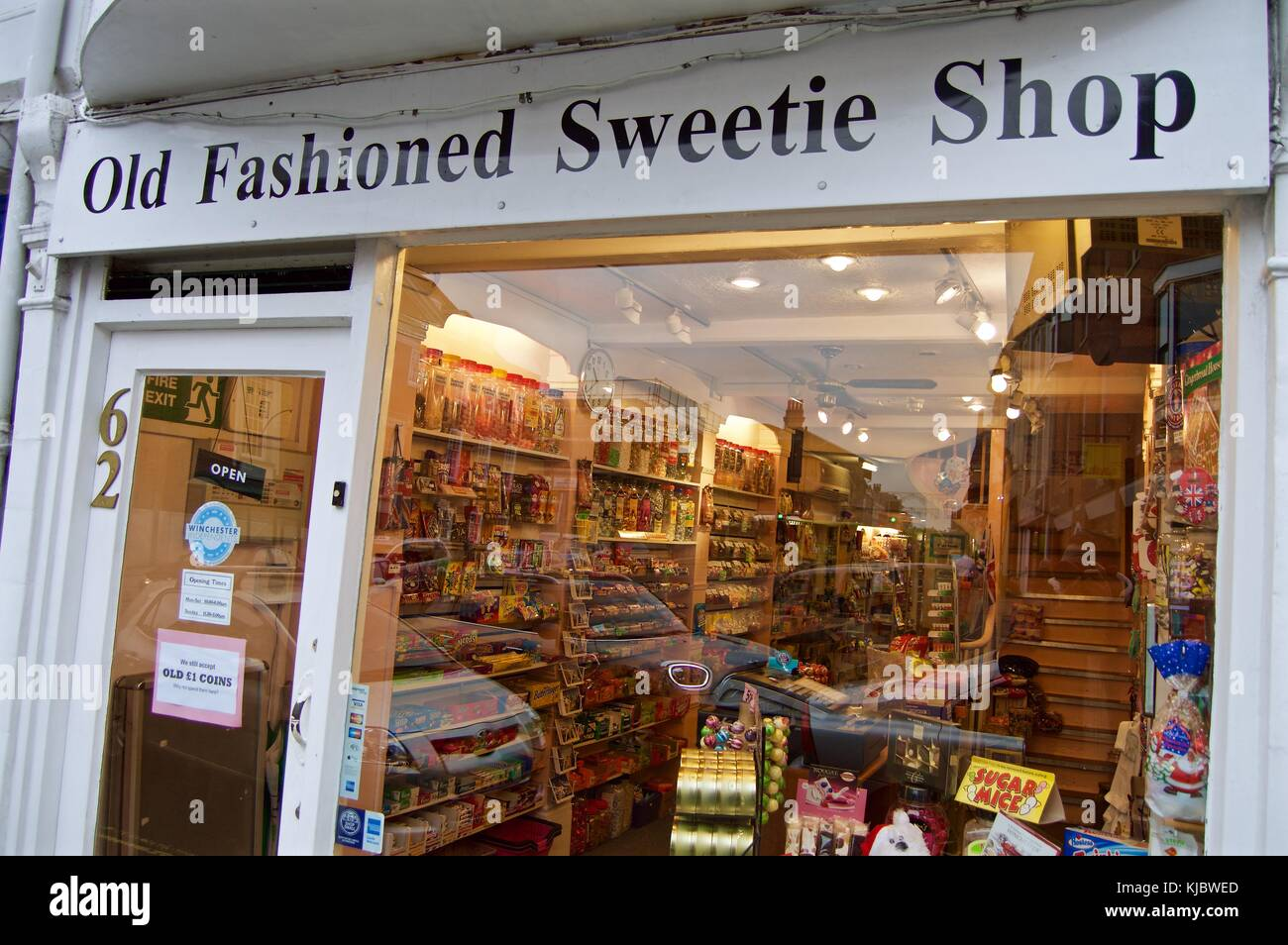 Old Fashioned Sweetie Shop, Winchester, England, UK - Stock Image