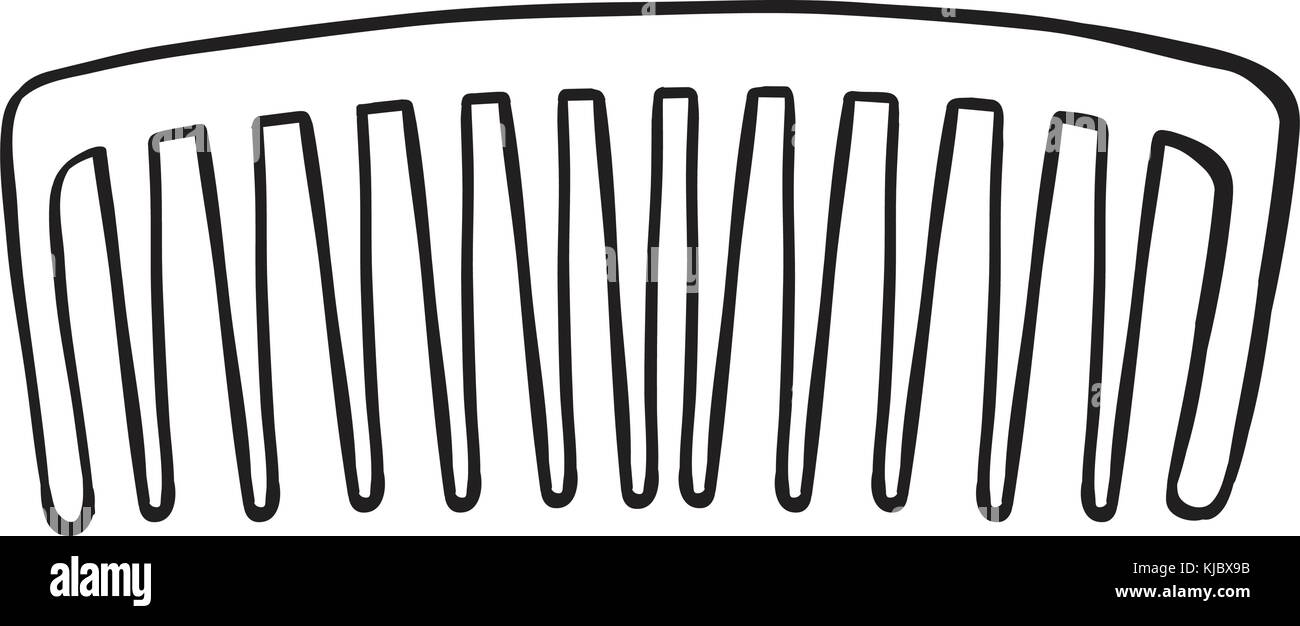 Illustration of a comb on a white background - Stock Image