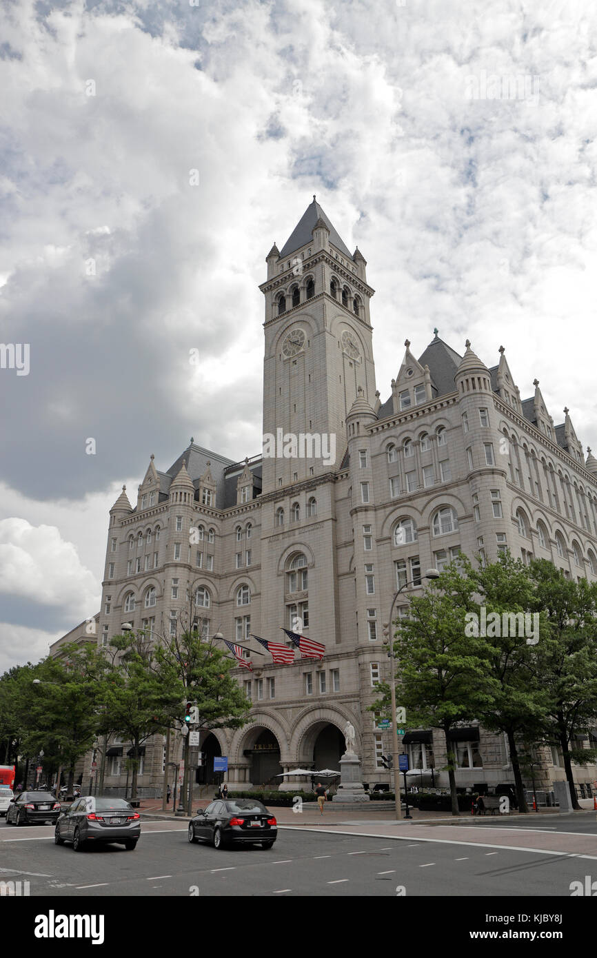 The Trump International Hotel on Pennsylvania Ave NW, Washington DC, United States.  It was formerly the Old Post - Stock Image