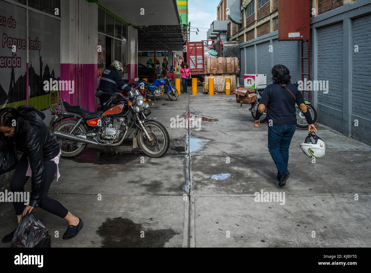 Postoffice, mail delivery, Mexico city, Mexico. - Stock Image