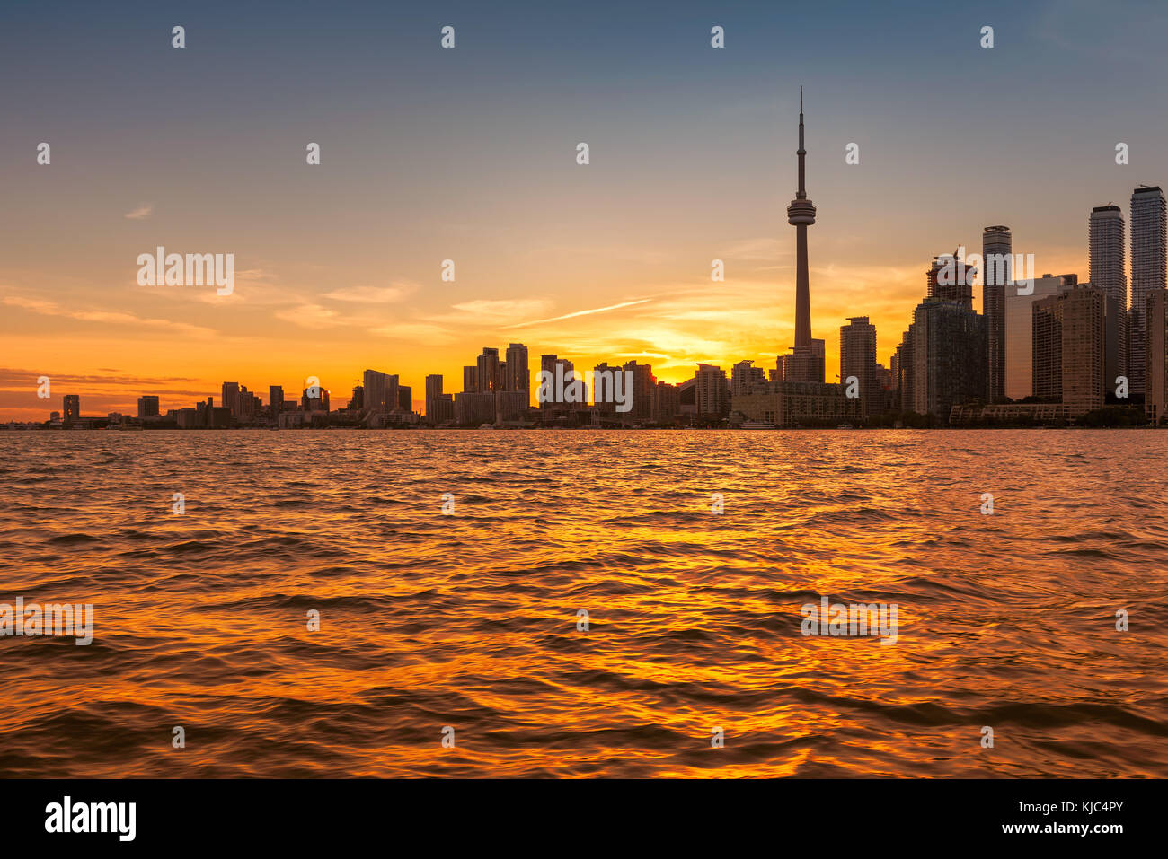 Toronto city skyline at beautiful sunset, Ontario, Canada. - Stock Image