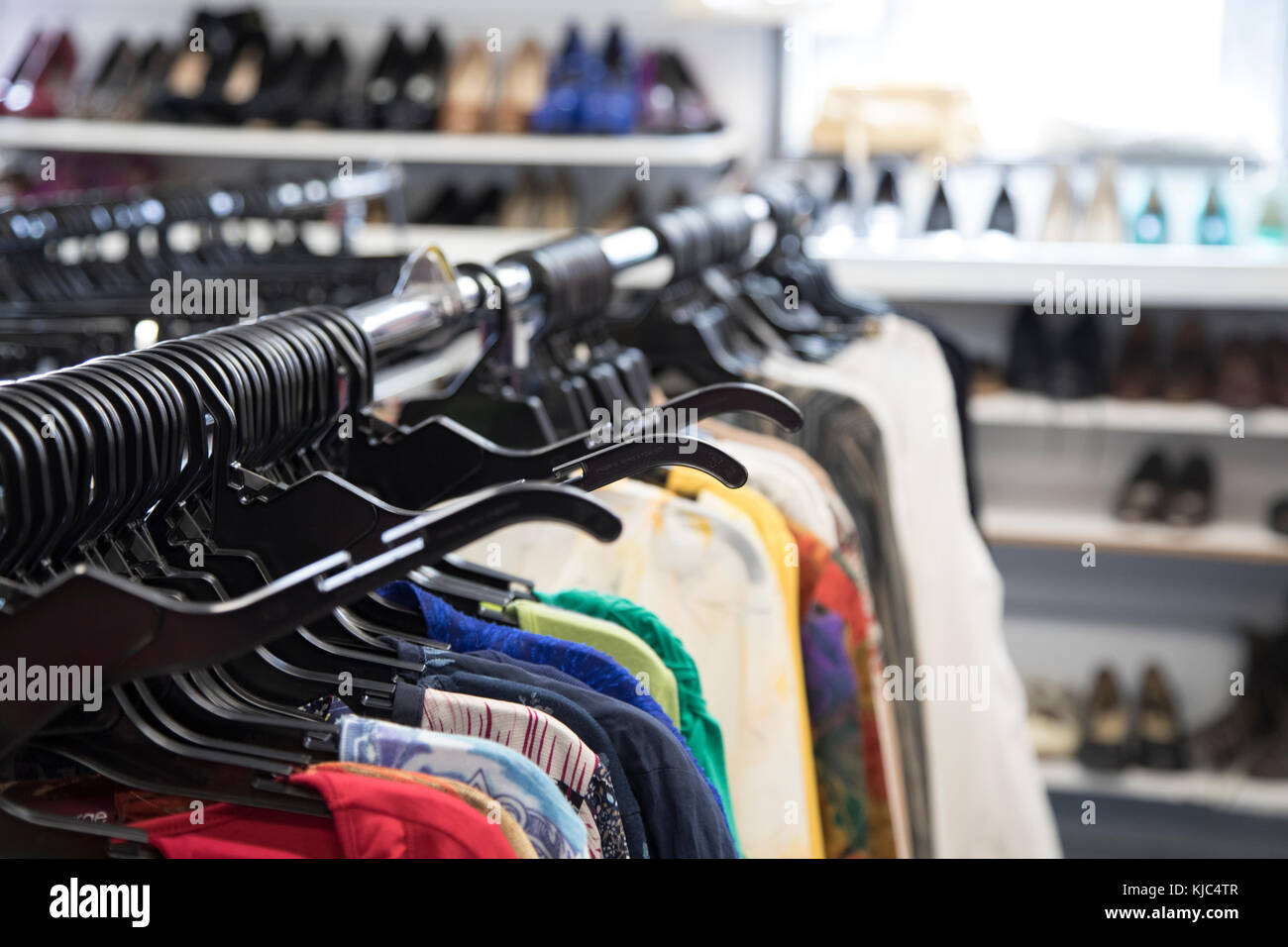 Clothing at Shopping Store - Stock Image
