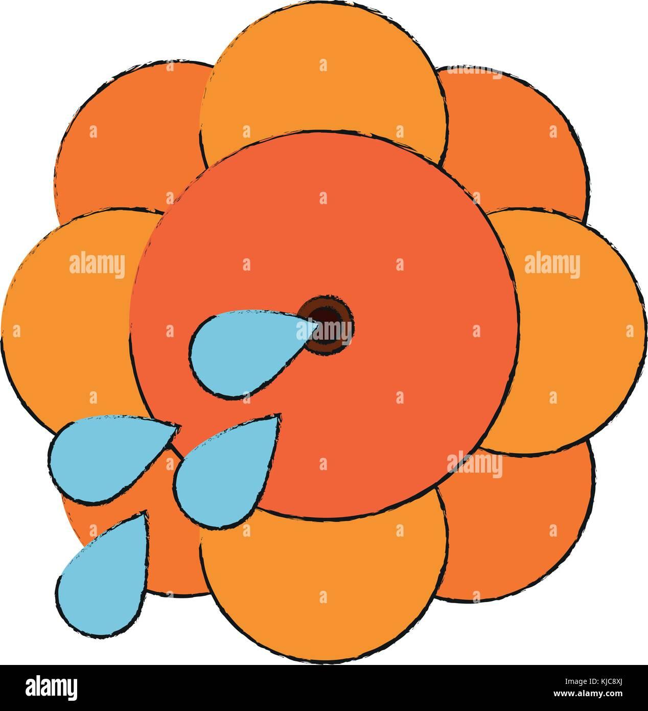 squirt flower joke - Stock Image
