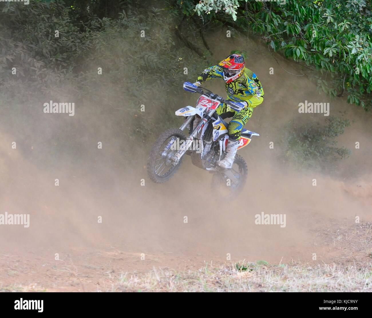 SARIEGO, SPAIN - AUGUST 17: Legendary Sariego motocross test in August 17, 2015 in Sariego, Spain. Jaume Betriu - Stock Image