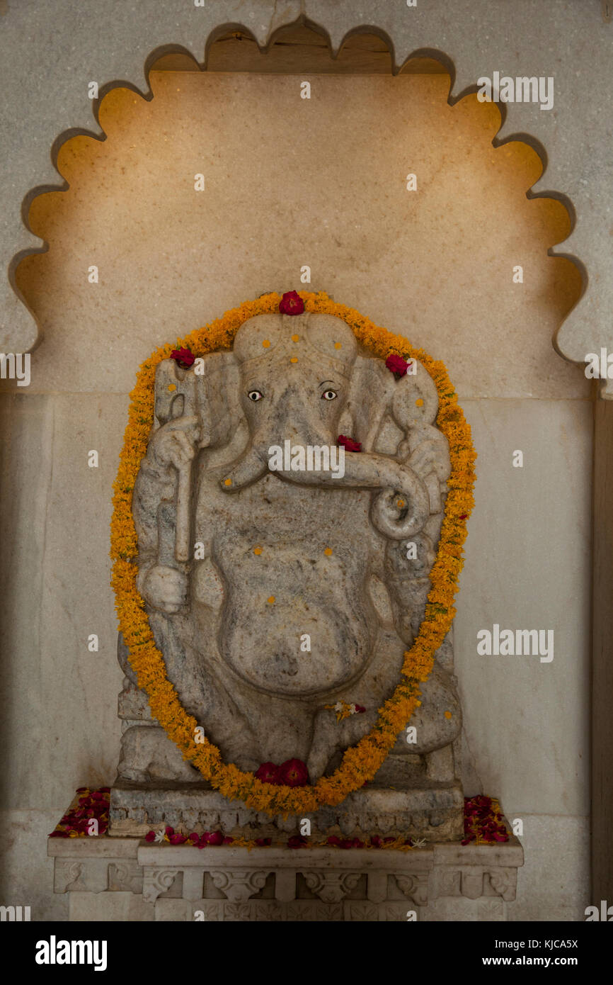 A relief of Loard Ganesha in Udaipur, India - Stock Image