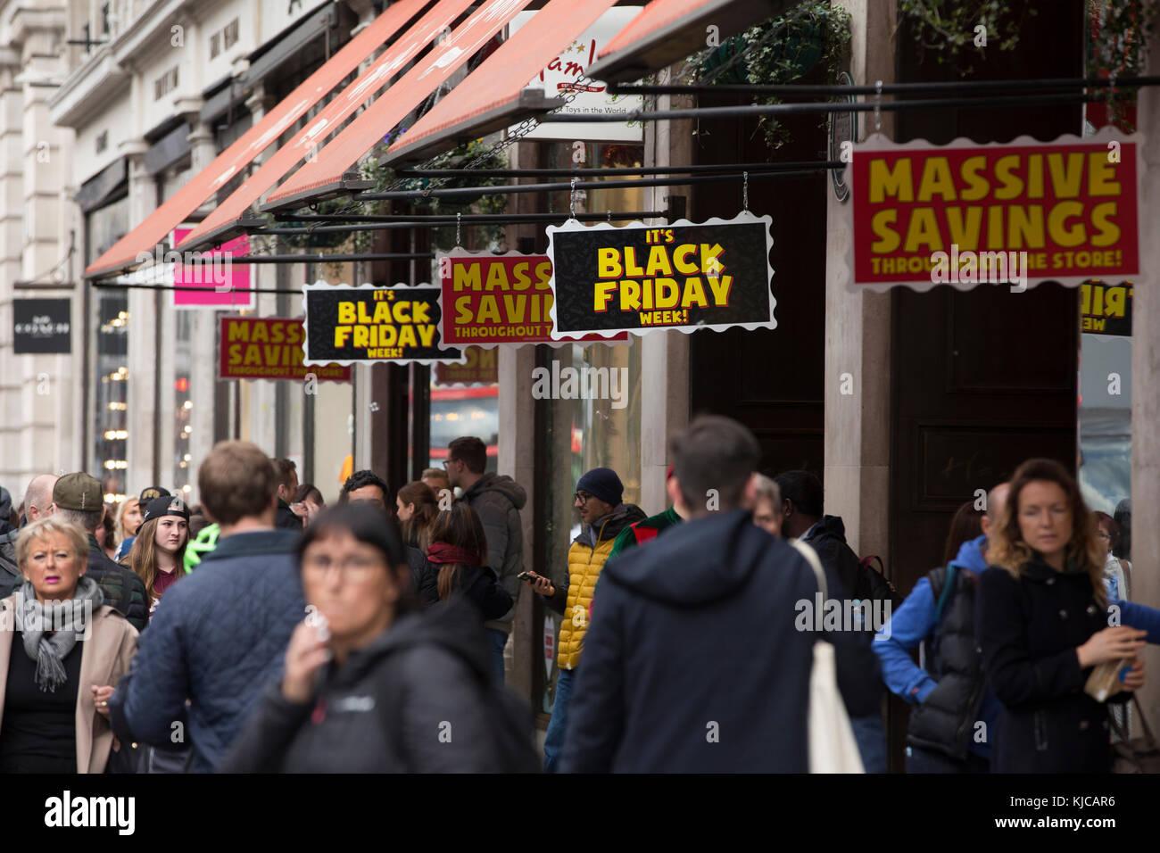 Black Friday Sales On Regent Street Central London England Uk Stock Photo Alamy