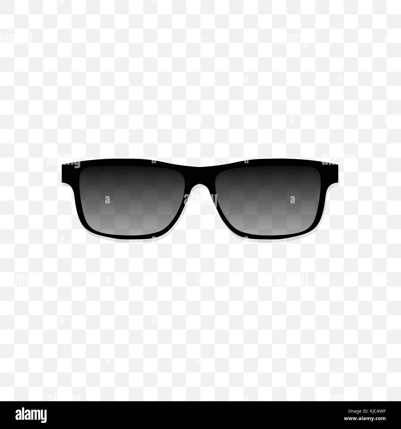 81a2076953 Realistic sunglasses with a translucent black glass on a transparent  background. Protection from sun and ultraviolet rays. Fashion accessory  vector ...