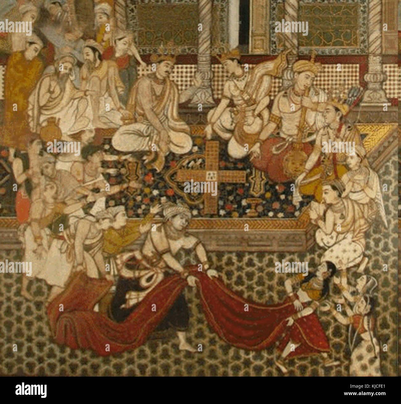Illustration from Persian Mahabharata - Stock Image