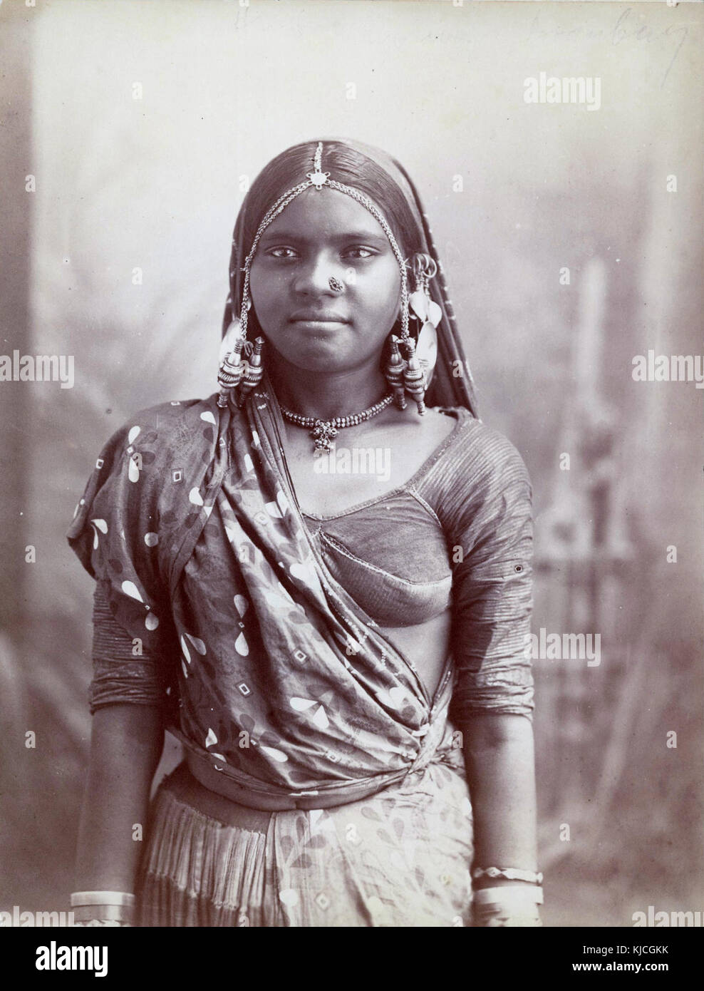 A young Indian woman in Bombay - Stock Image