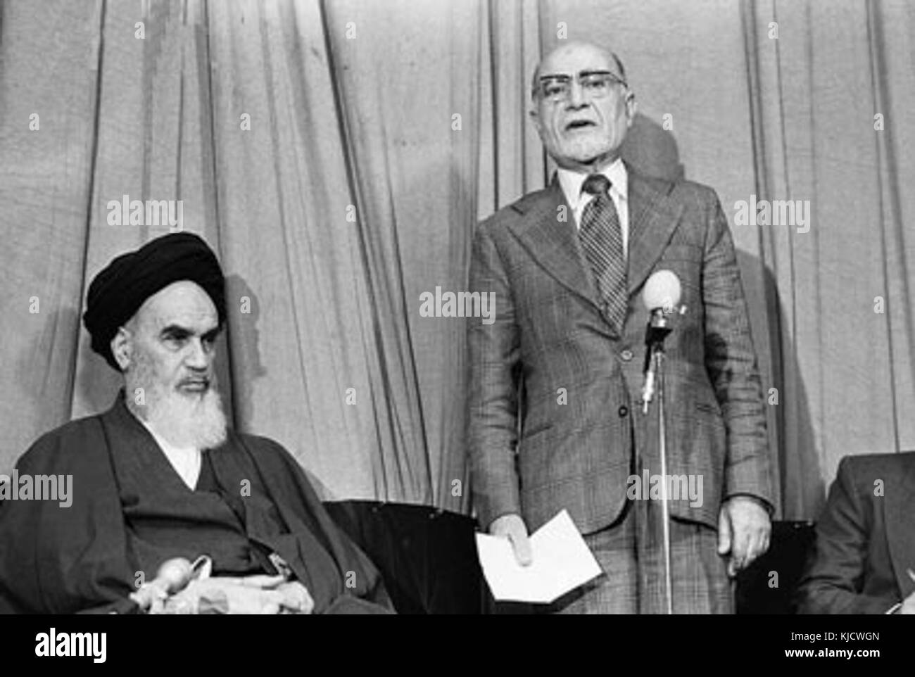 Non Muslim Perspective On The Revolution Of Imam Hussain: Ruhollah Khomeini Black And White Stock Photos & Images
