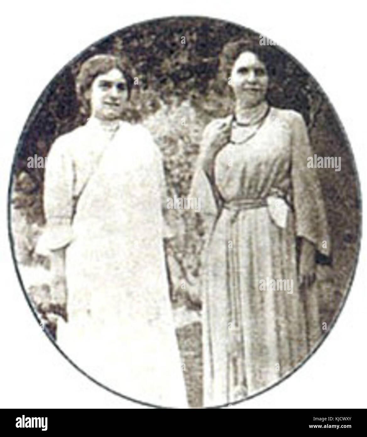 Sister Christine with Sister Nivedita - Stock Image