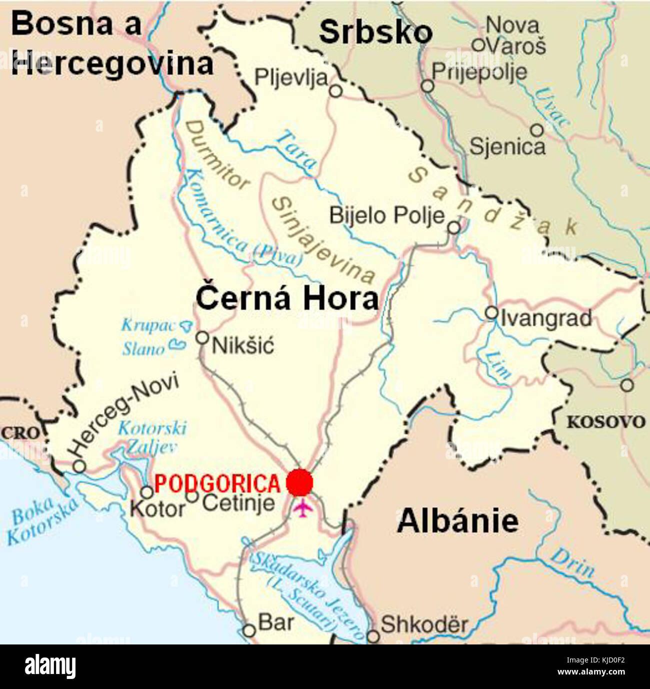 prijepolje mapa CG mapa PG Stock Photo: 166242918   Alamy prijepolje mapa
