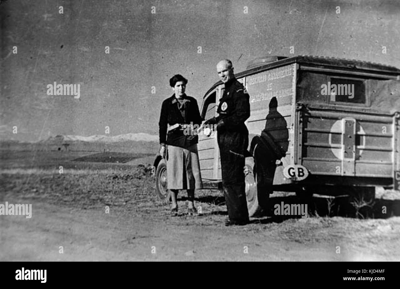Norman Bethune transfusion unit 1936 - Stock Image