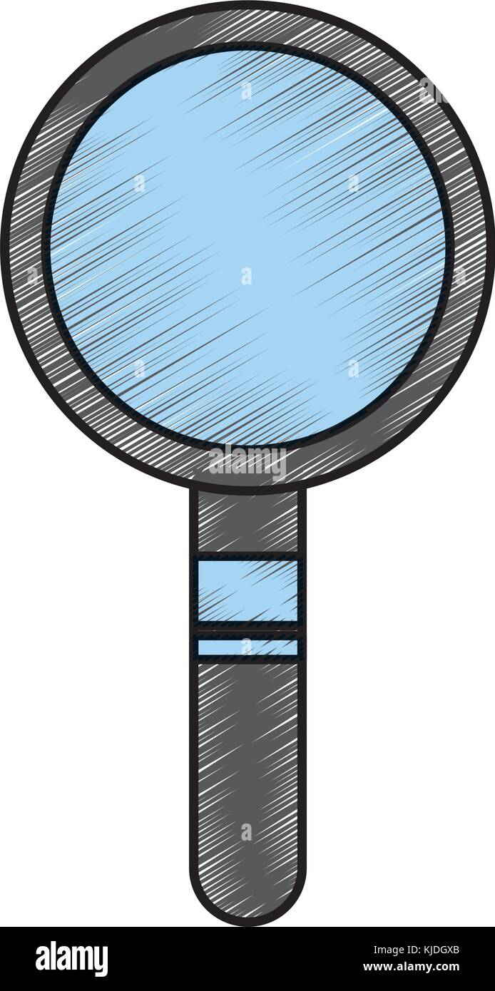 magnifier search technology tool element find Stock Vector