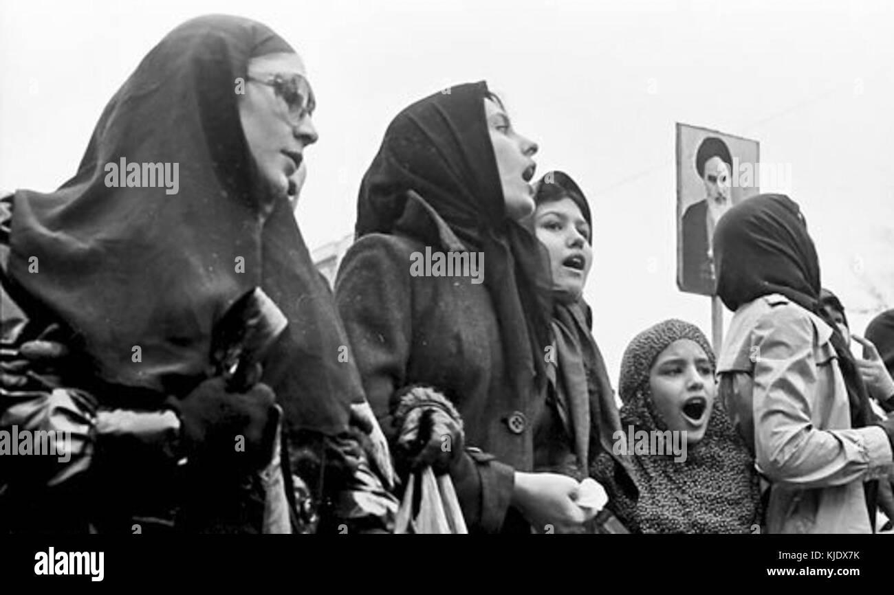 Iranian Revolution Women - Stock Image