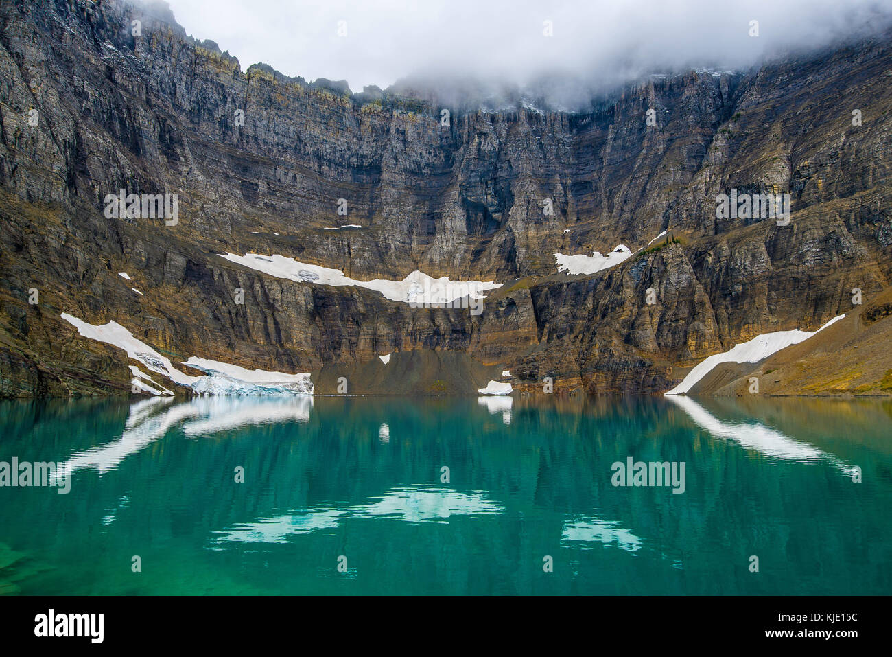 Iceberg Lake, Glacier National Park, Montana, USA by Bruce Montage/Dembinsky Photo Assoc Stock Photo