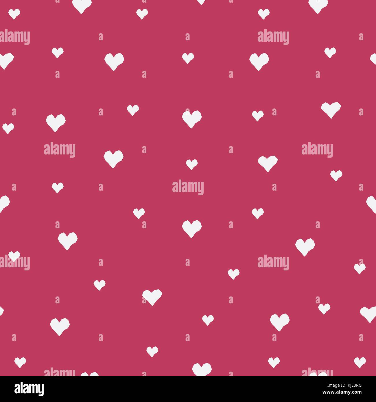 Seamless Heart Pattern on pink. Vector Illustration - Stock Vector