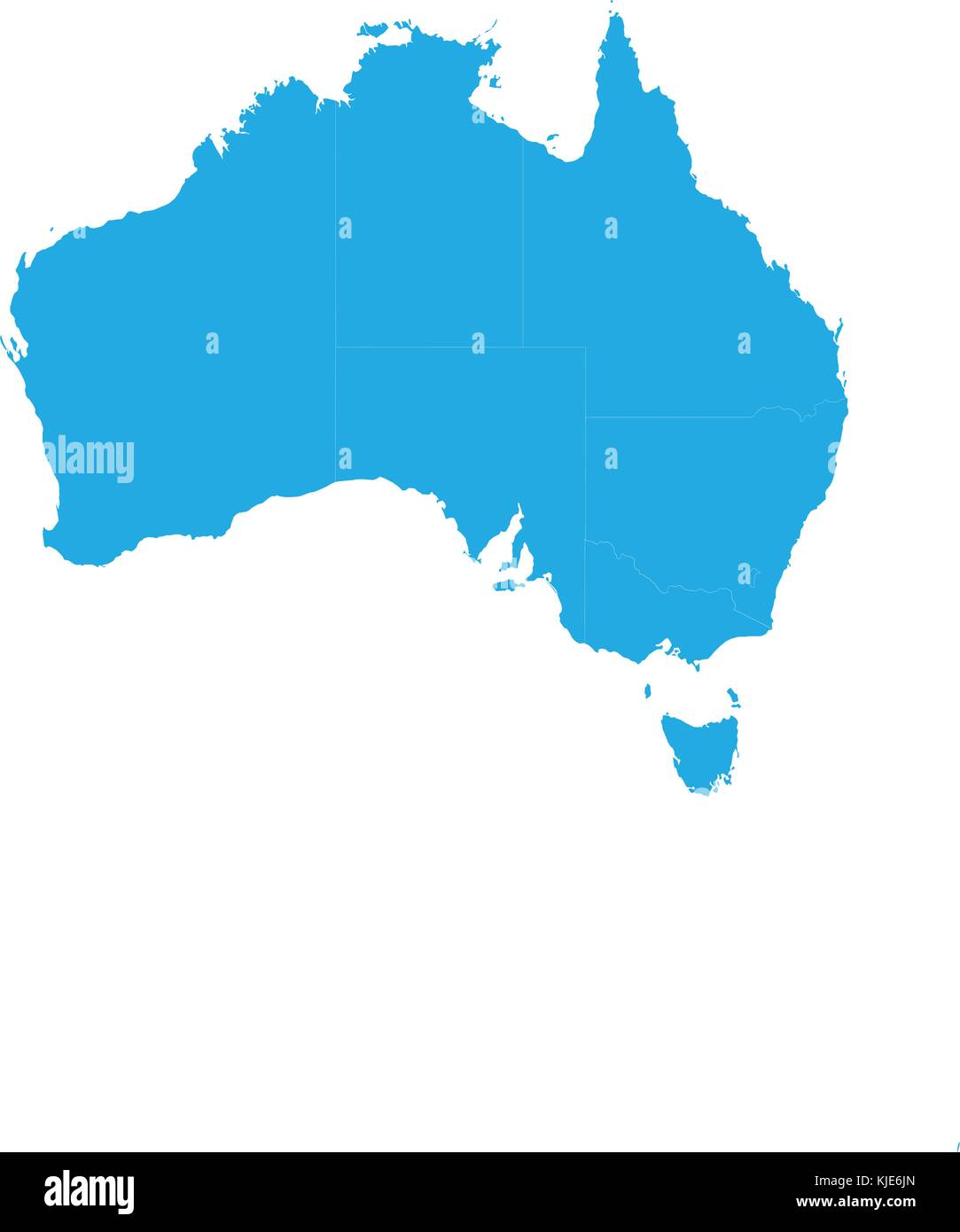 Australia Map Vector.Map Of Australia High Detailed Vector Map Australia Flat High