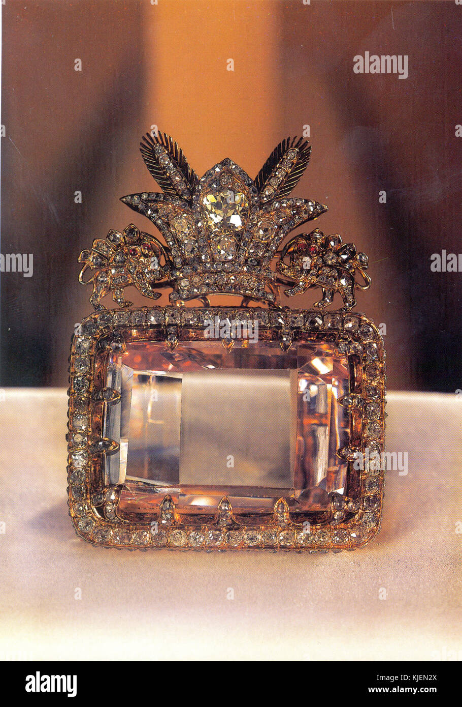 The Daria e Noor (Sea of Light) Diamond from the collection of the national jewels of Iran at Central Bank of Islamic Stock Photo