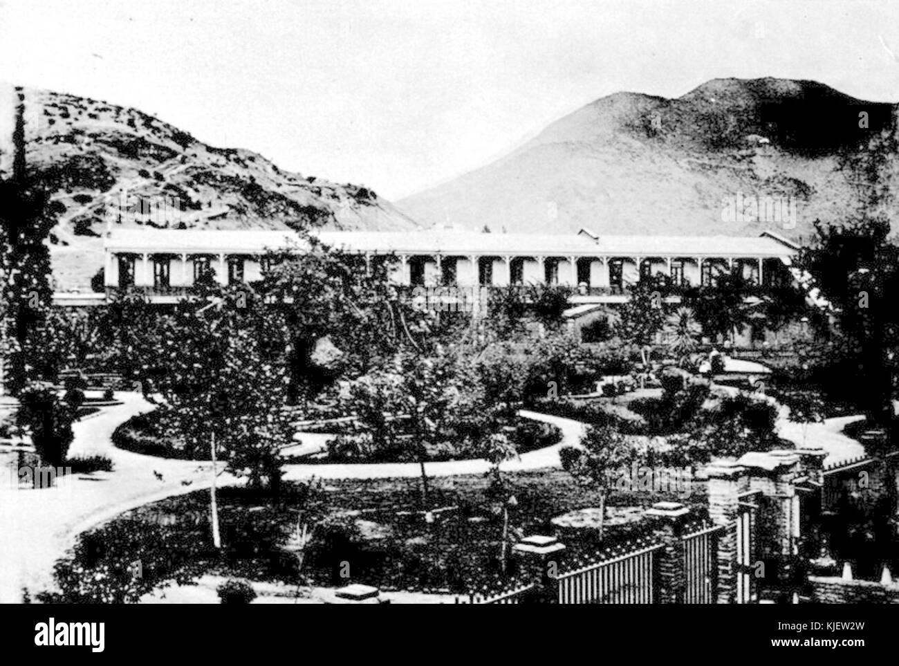 Casa de Orates Pabellon observacion de Hombres 1903 - Stock Image