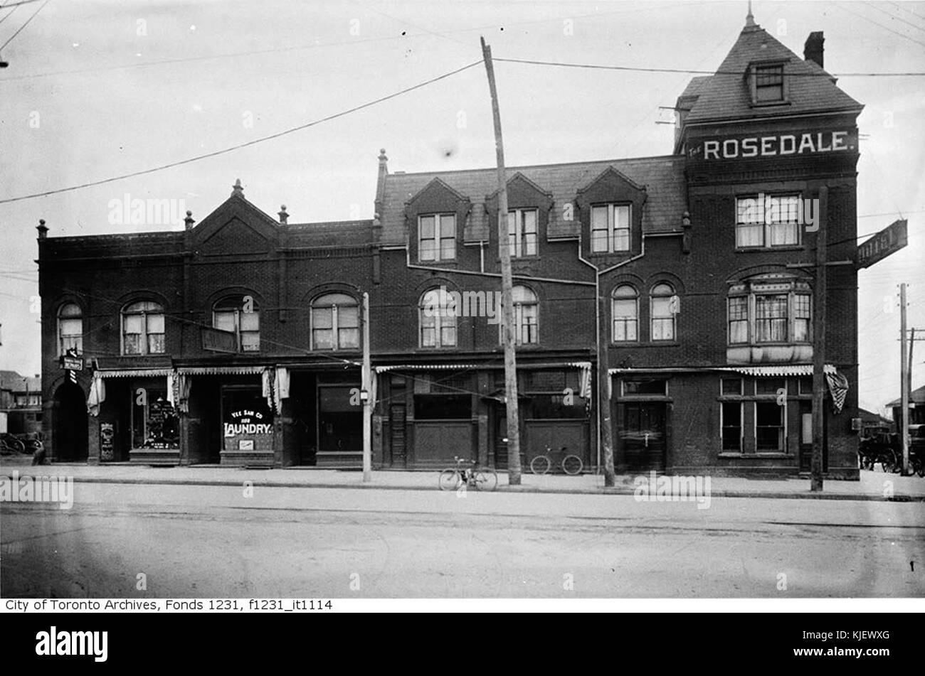 Northeast corner of Yonge Street and Shaftesbury Avenue, Rosedale Hotel (4504056583) - Stock Image