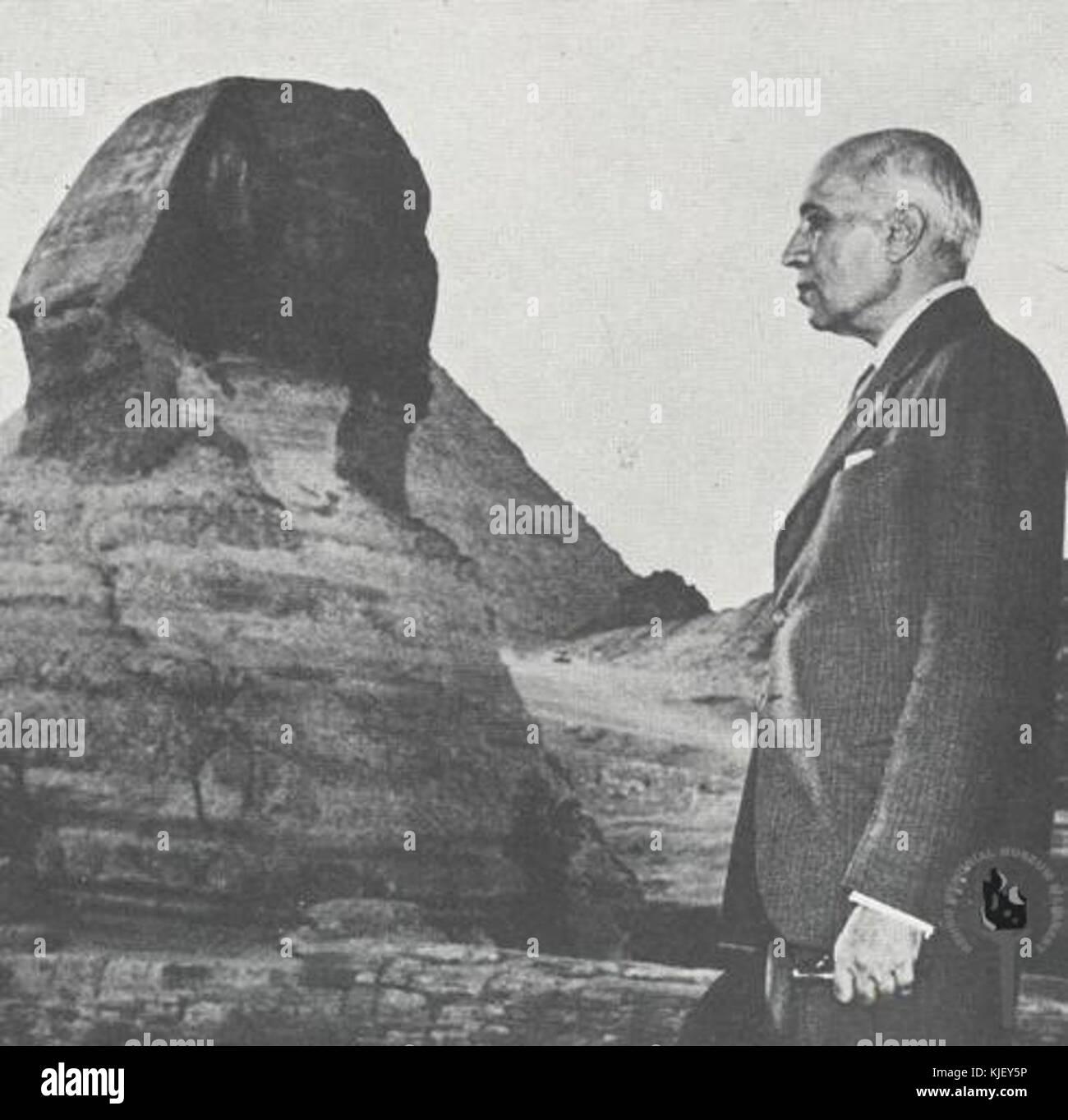 Jawaharlal Nehru at the Sphinx - Stock Image