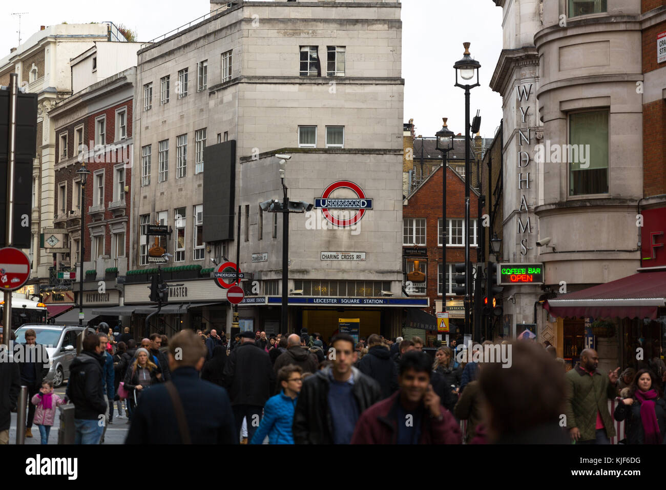 Leicester Square - London, UK - Stock Image