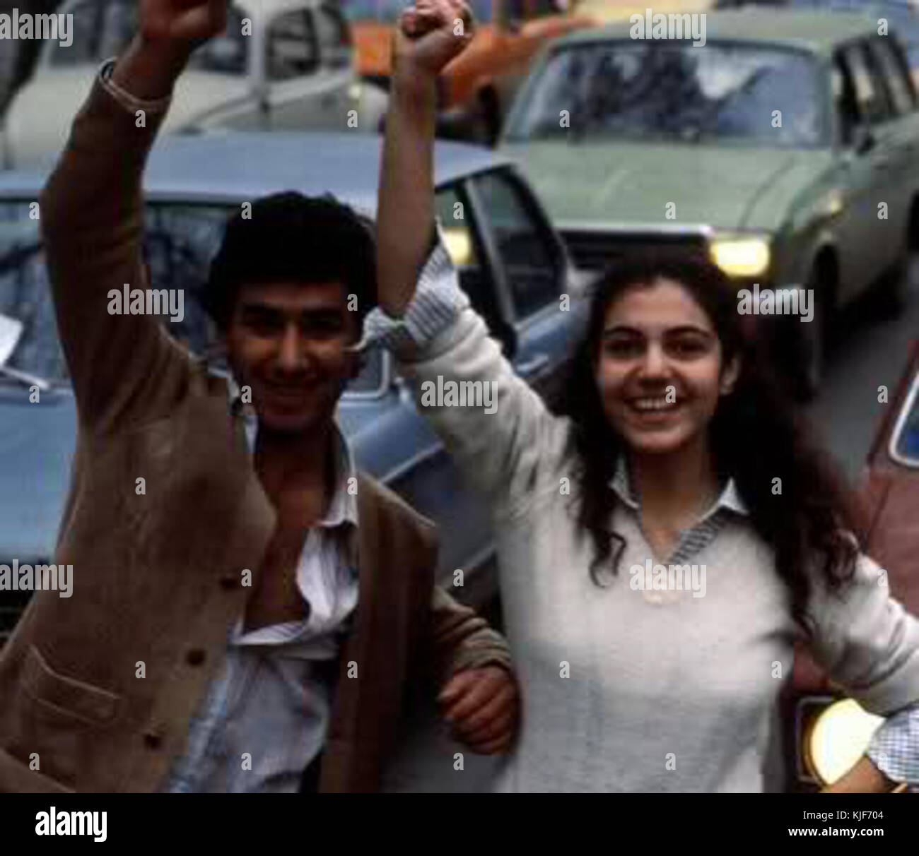 Iranian Revolution youths - Stock Image