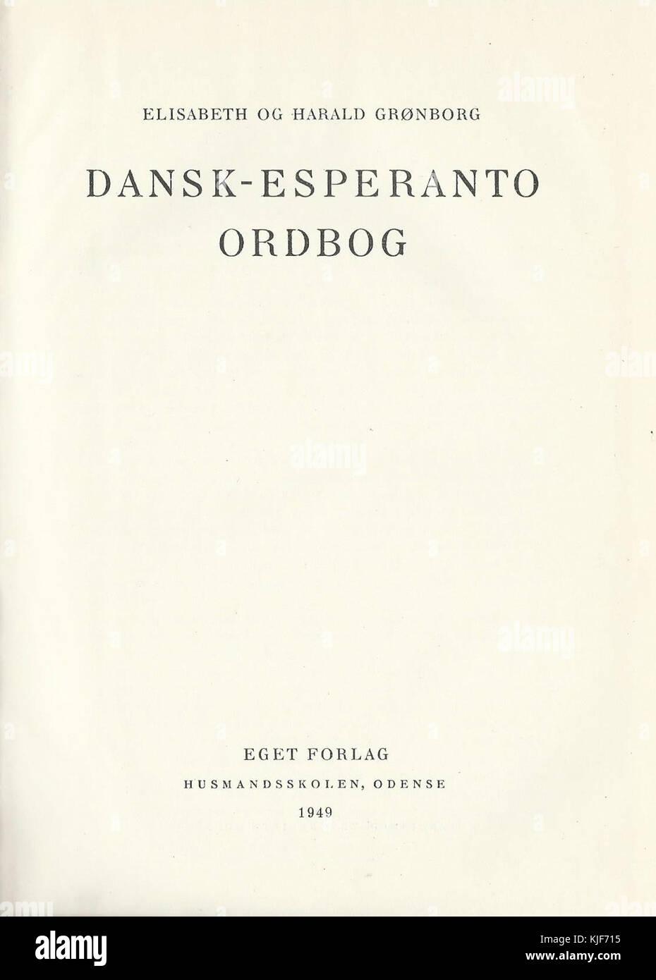 esperanto ordbog