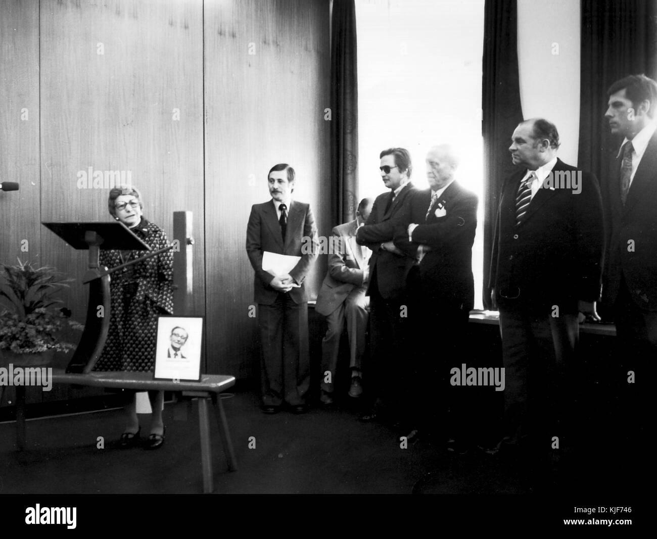 Goldene Pelzmotte 1976, Gerd Kursawe, Hans Quaet Faslem, Martin von Schachtmeyer (07) - Stock Image