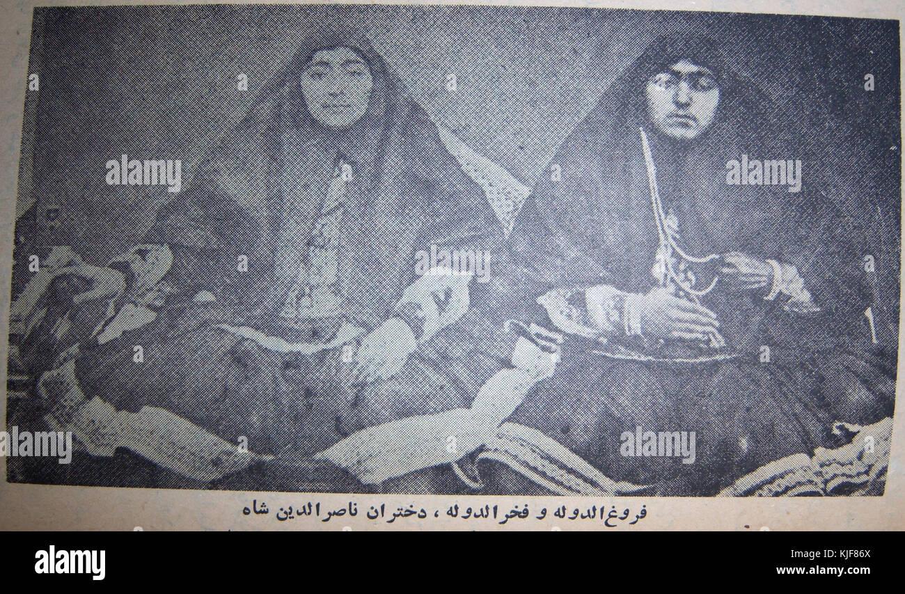 Fakhr ol dowleh and Forouq ol dowleh - Stock Image