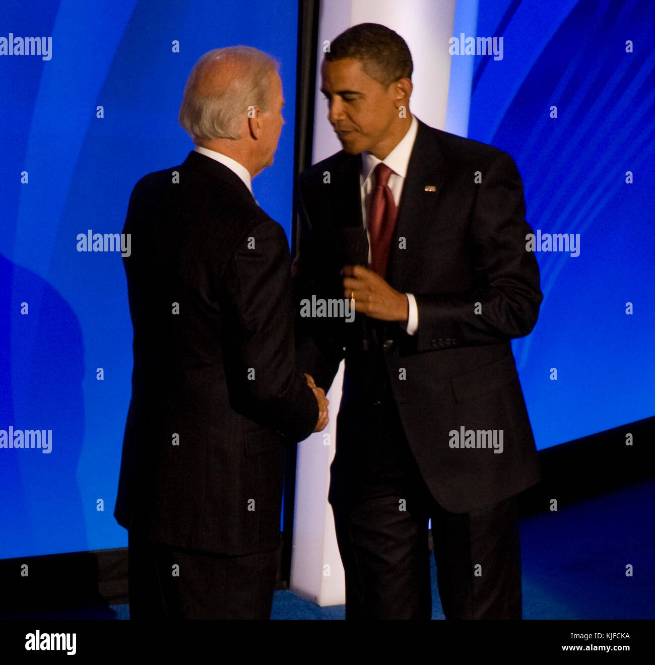 Barack Obama And Joe Biden 2008 Dnc 01 Cropped1 Stock Photo Alamy