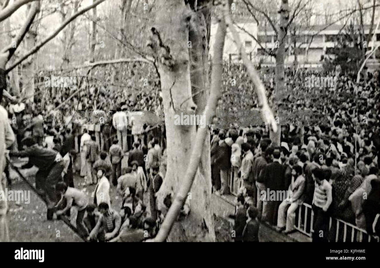 Iranian revolution in Rasht - Stock Image