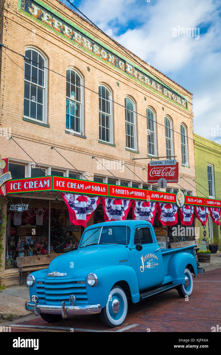 Jefferson is a historic town in east Texas. - Stock Image
