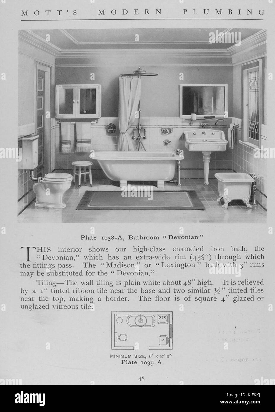 Bathroom Devonian Style 1911 From The New York Public Library