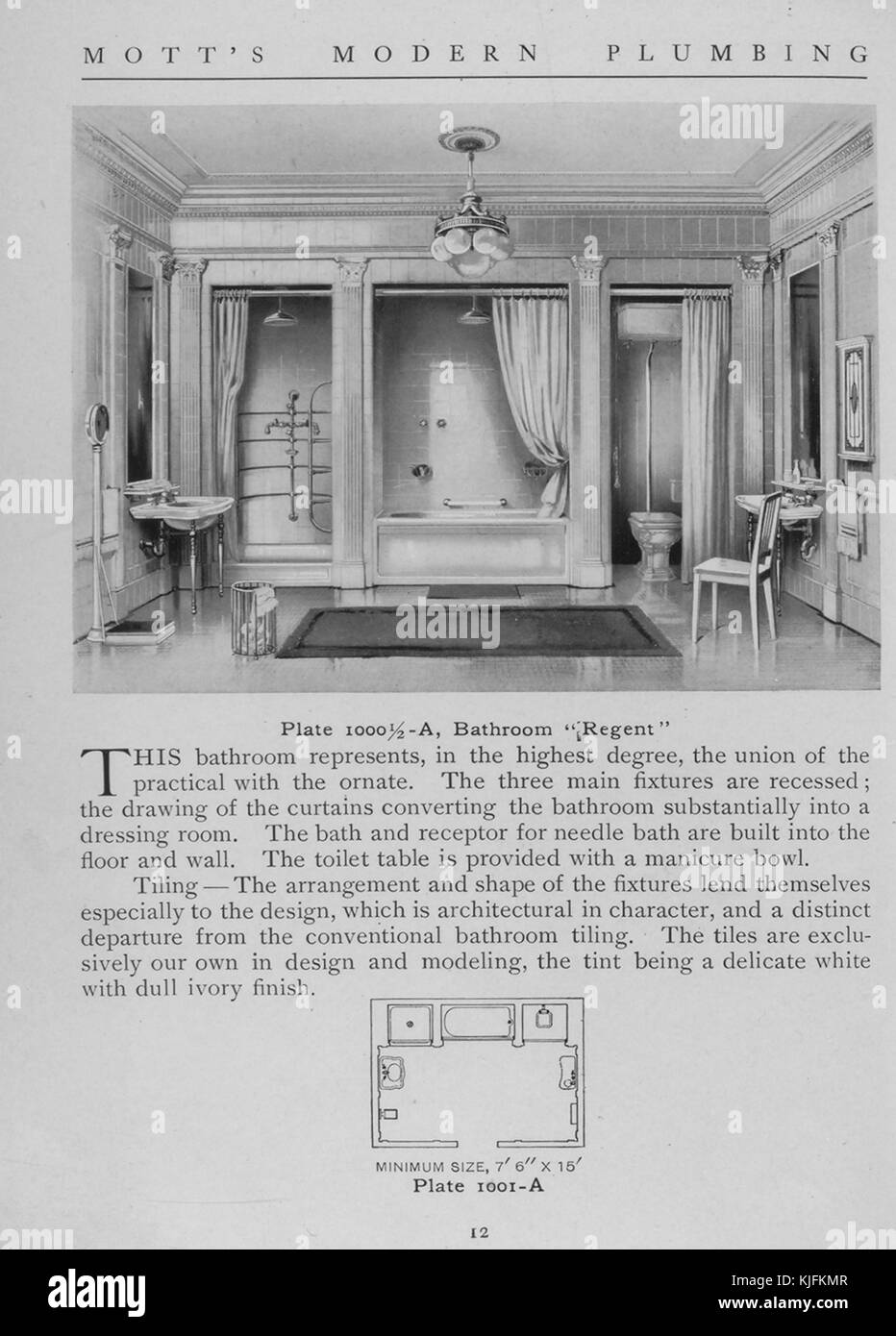 A Bathroom Regent Style 1911 From The New York Public Library