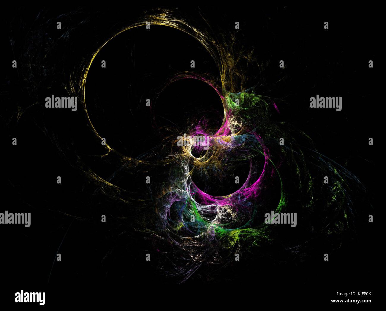 Fractal design. Creation light and dark. - Stock Image