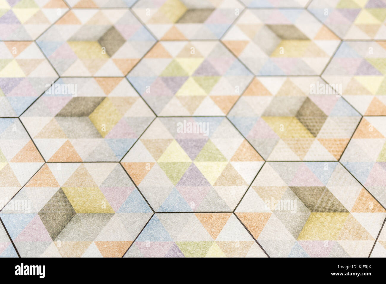 Abstract image of decorative colorful hexagon floor tile Stock Photo ...