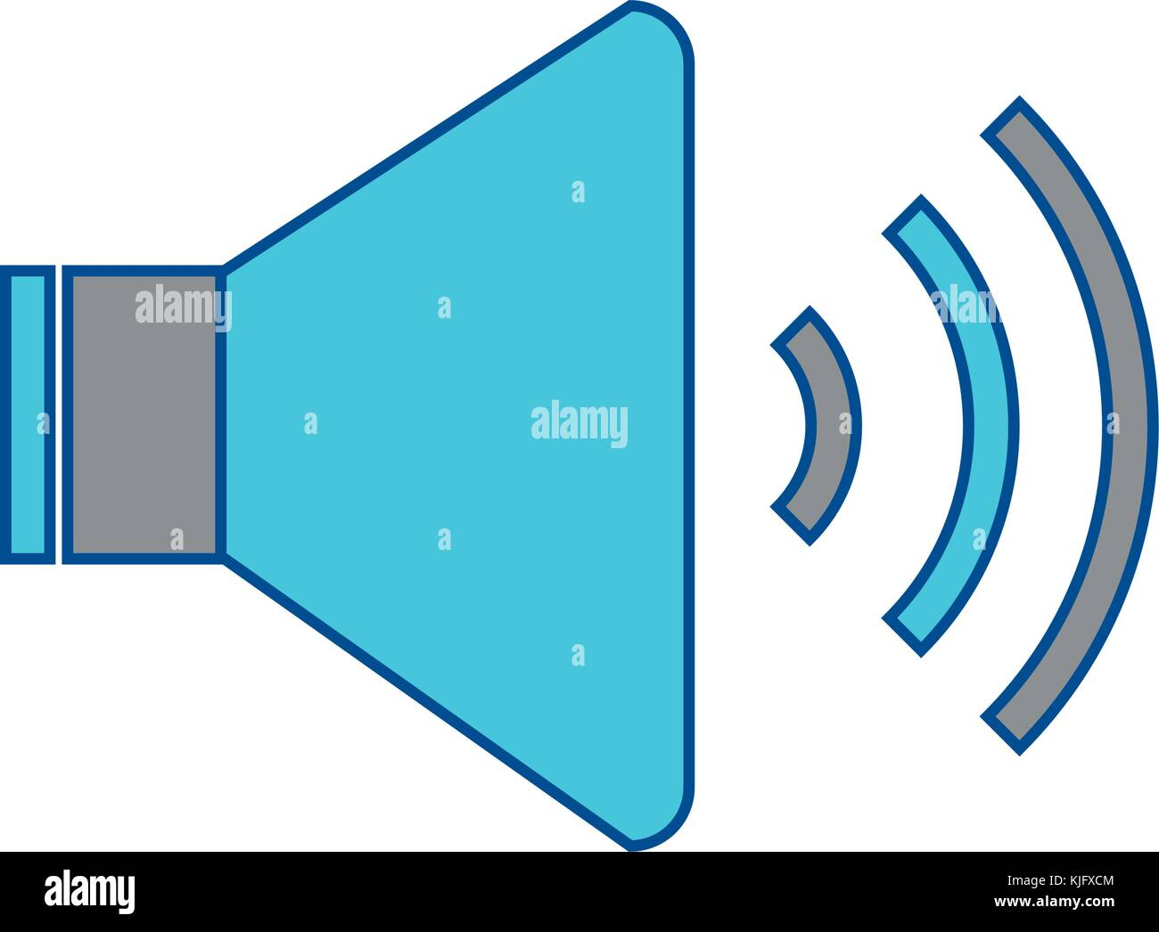 speaker sound on icon image Stock Vector Art & Illustration, Vector
