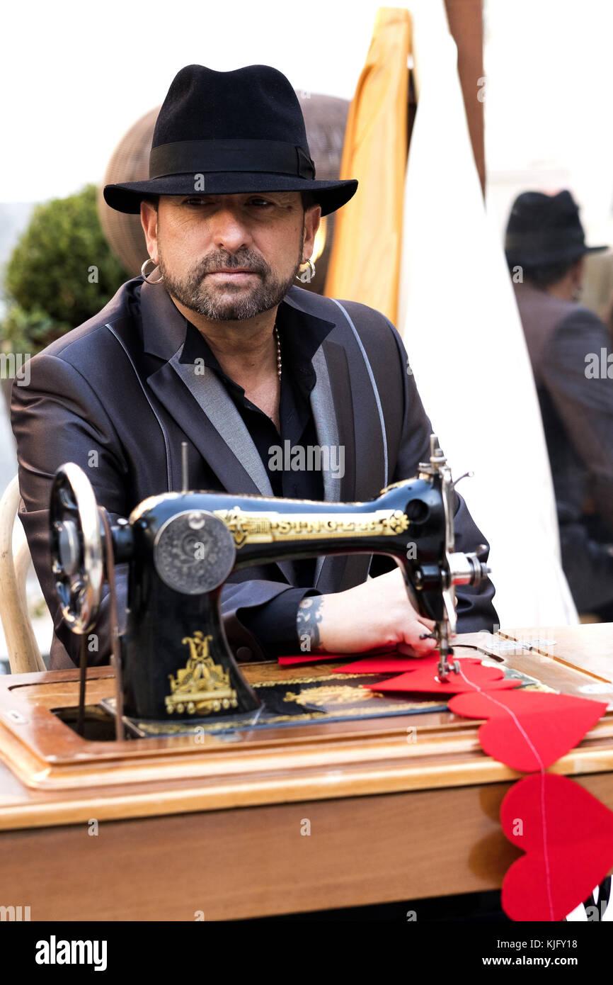 The singer El Barrio attends the presentation of his album 'Las Costuras del Alma' in Madrid, Spain.  Featuring: Stock Photo