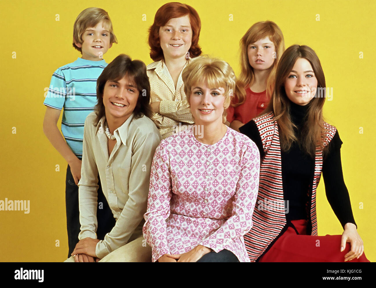 THE PARTRIDGE FAMILY  Screen Gems American TV  series 1970-1974 with Shirley Jones and David Cassidy - Stock Image