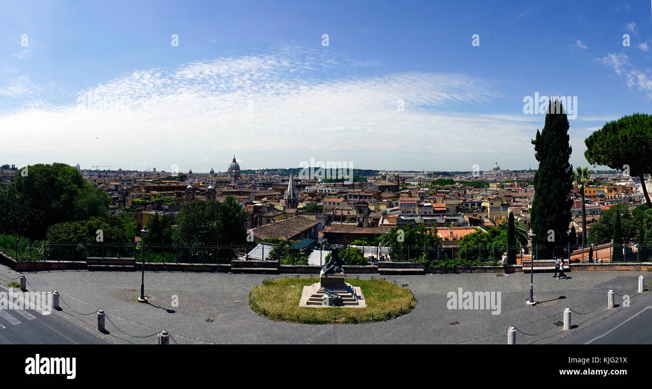 Panoramic View Of Rome From The Terrace Called Terrazza