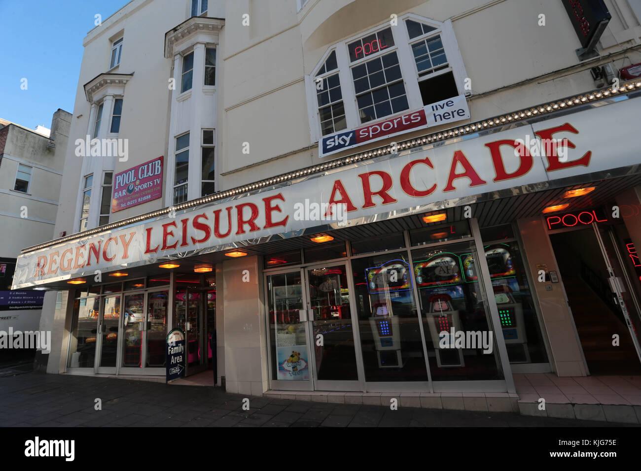 Regency Leisure Arcade West Street Brighton - Stock Image
