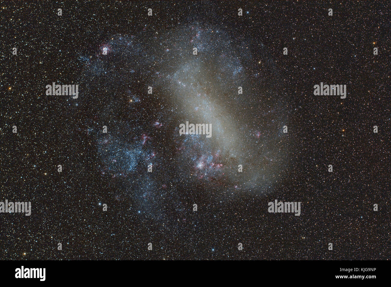 Namibia, Region Khomas, near Uhlenhorst, Astrophoto of the Large Magellanic Cloud (LMC, PGC 17223), irregular galaxy - Stock Image