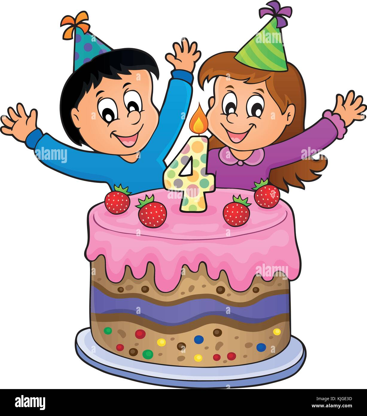 Search Results For 4 Year Old Boy Birthday Cake Stock Vector Images