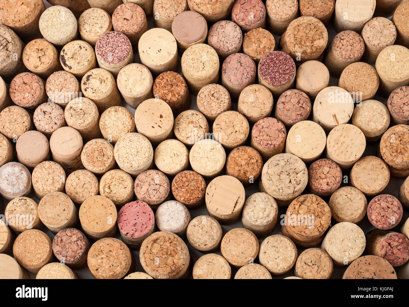 many different wine corks in the background, texture - Stock Image