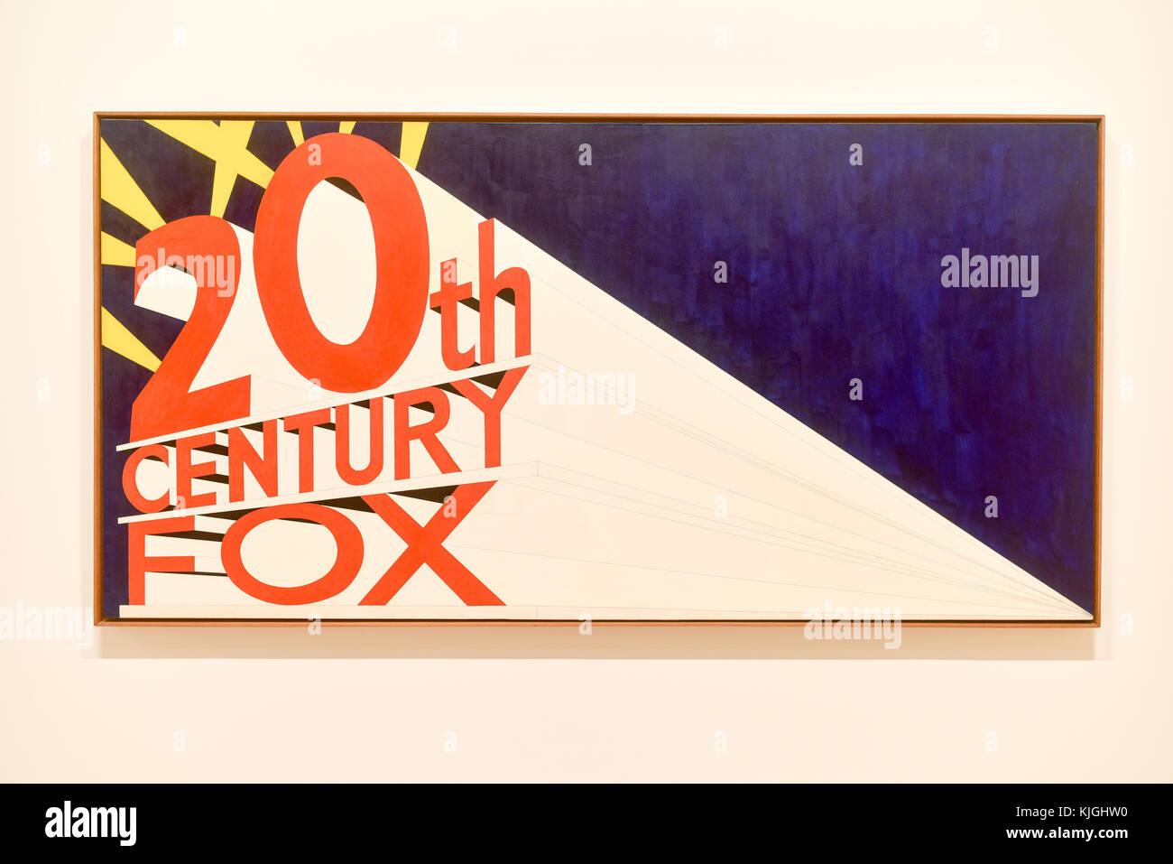 New York City - August 7, 2015: 20th Century Fox logo as