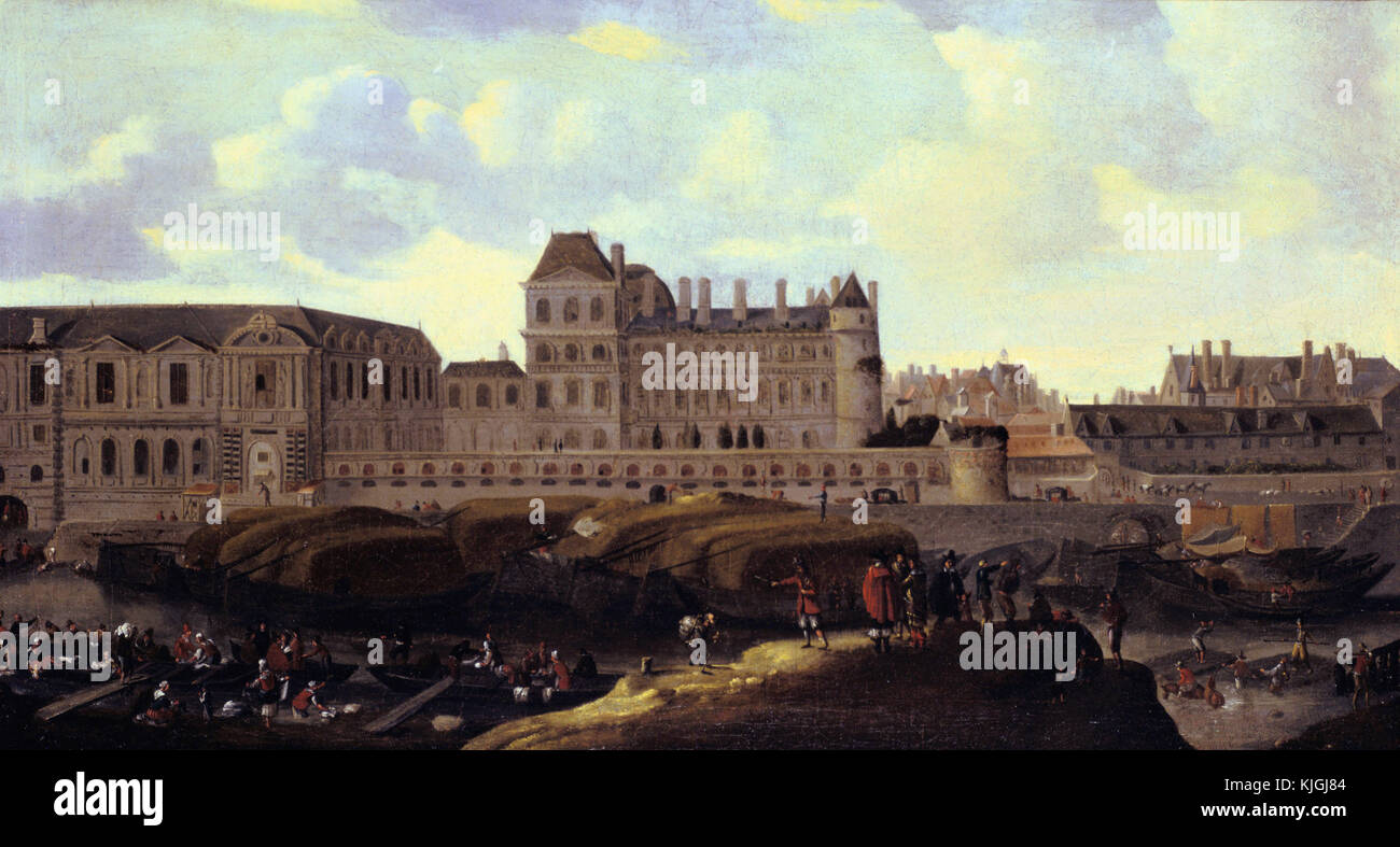 Reiner Nooms -  View of the Louvre, Paris - Stock Image