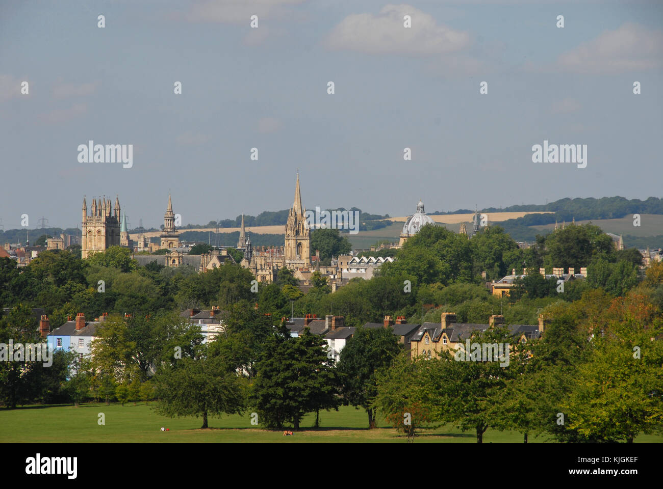 View of Oxford from South Park in summer Stock Photo