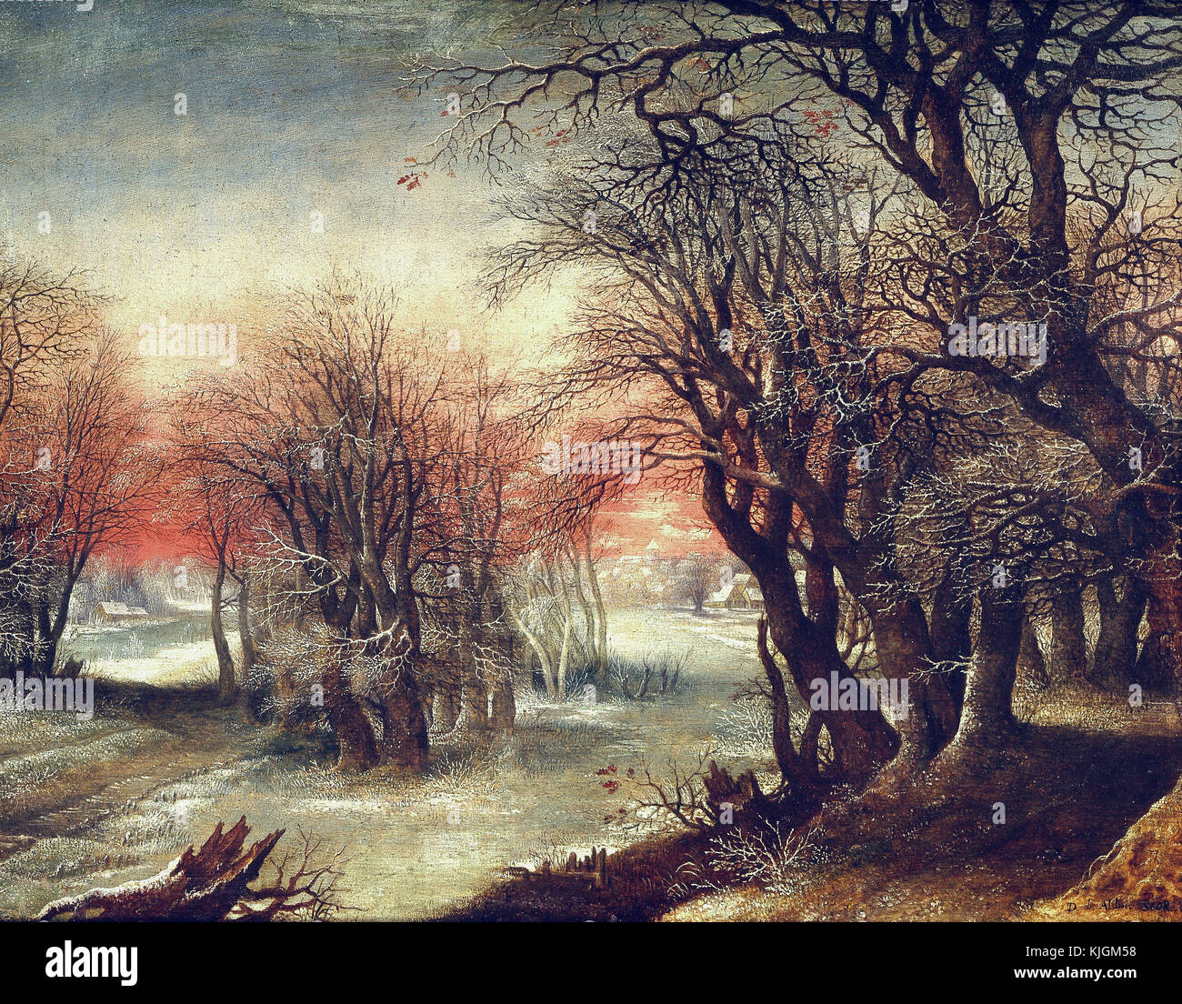 Alsloot Deny  van  -  Winter Landscape Paris, Louvre museum  17th century - Stock Image